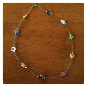 Italian Blown Glass Necklace